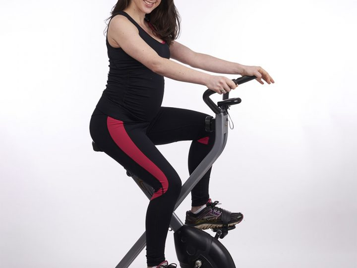 Spinning in pregnancy exercise video