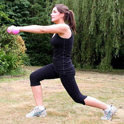 Pregnancy exercise early pregnancy Low lunge
