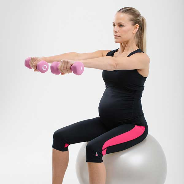 fit ball pregnancy exercise tips