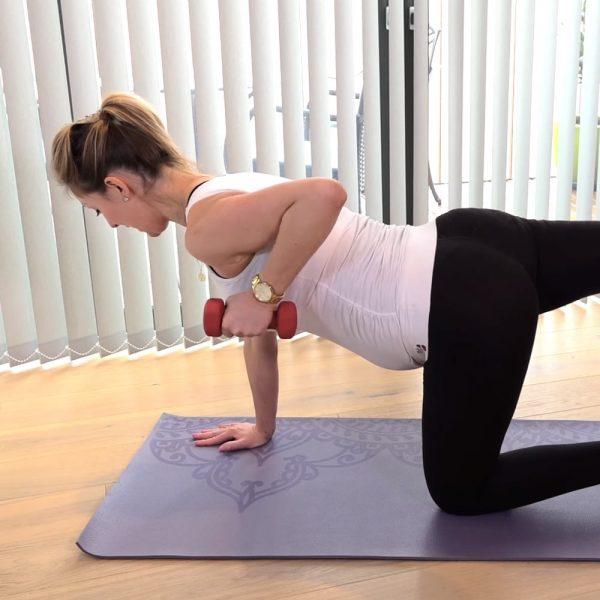 pregnancy pilates arm workout video