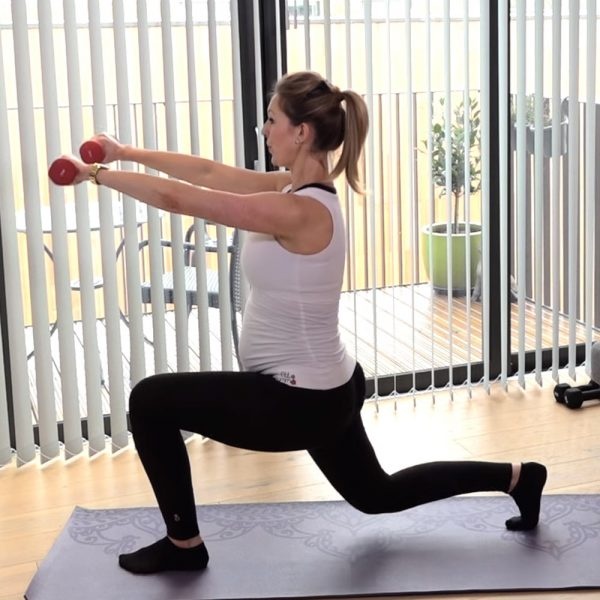 pregnancy pilates leg toning video
