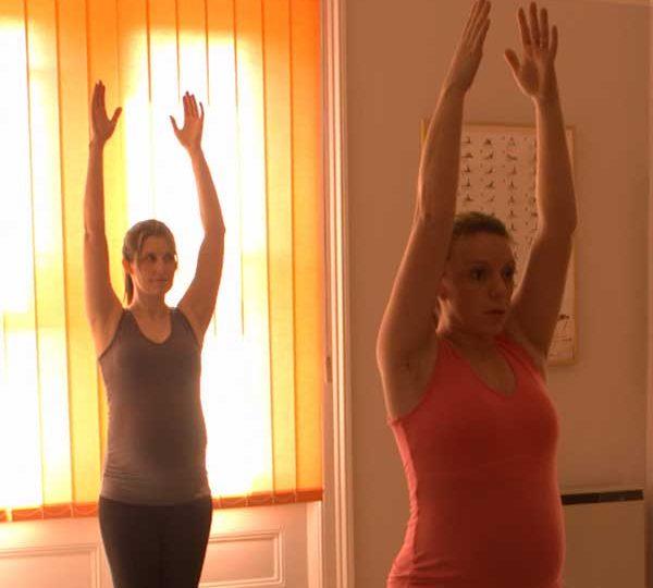 Pregnancy Pilates back strengthen