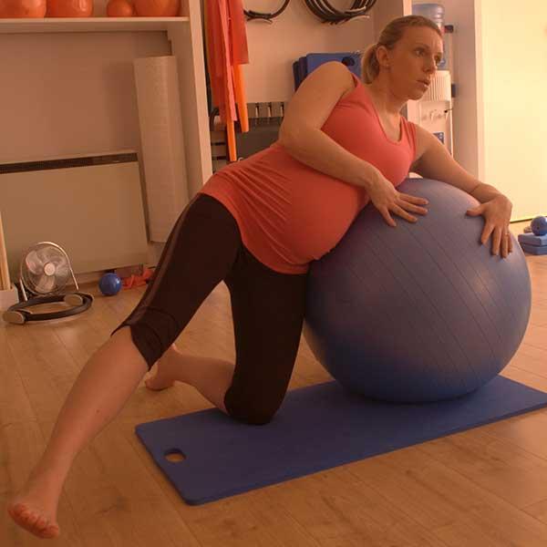 pregnancy Pilates leg toning exercises