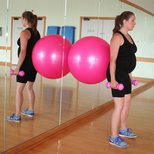 pregnancy fitball workout squat