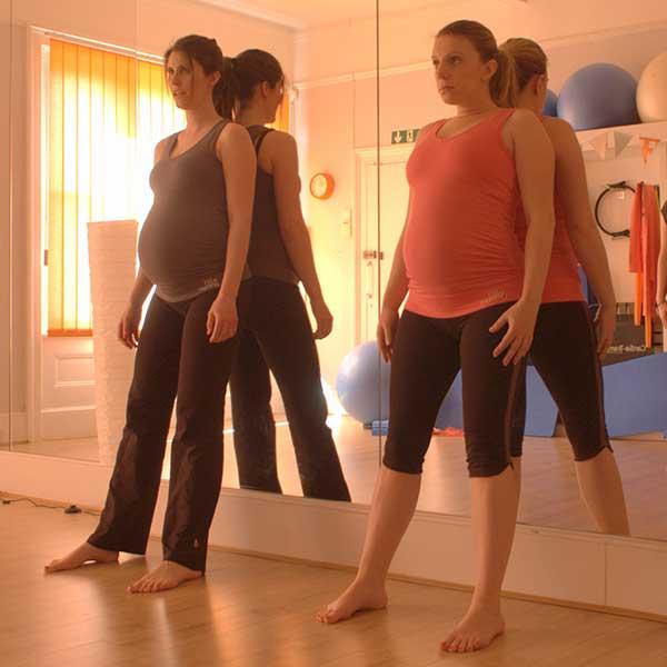 pregnancy-Pilates-exercises wall-slides