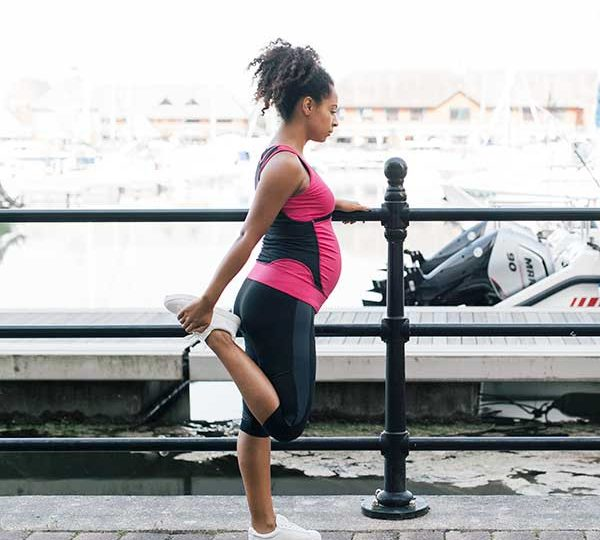Safe pregnancy exercise warm ups