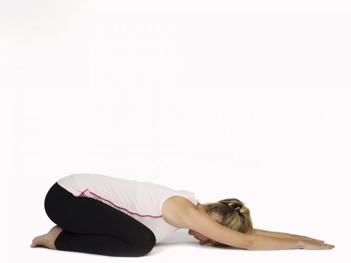 Pregnancy yoga: the child pose