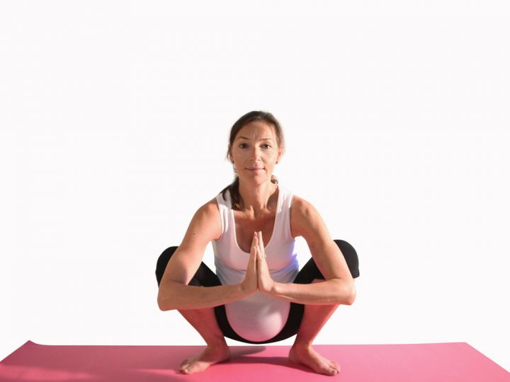 Pregnancy yoga: garland pose
