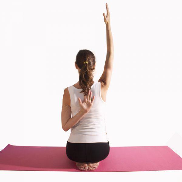 Pregnancy yoga back stretch