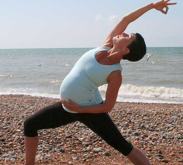 Pregnancy yoga video: standing poses