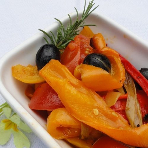 Healthy pregnancy diet Baked peppers and tomatoes