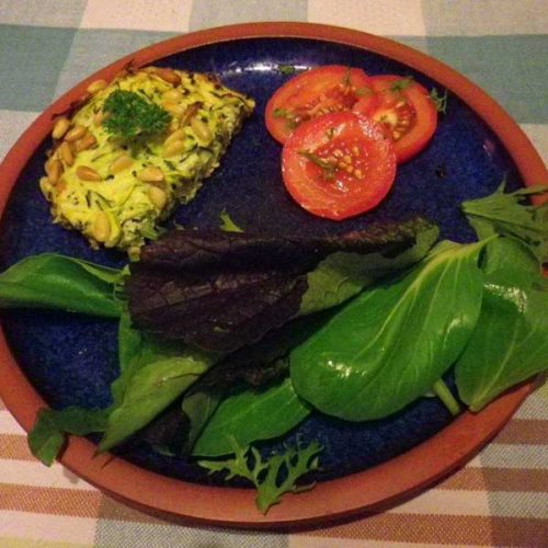 healthy pregnancy meal Courgette-bake recipe
