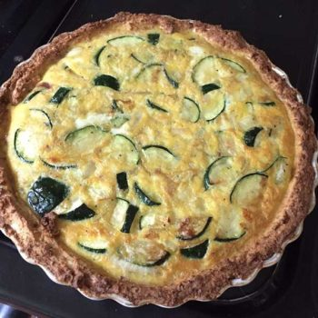 Cauliflower Base Courgette Quiche