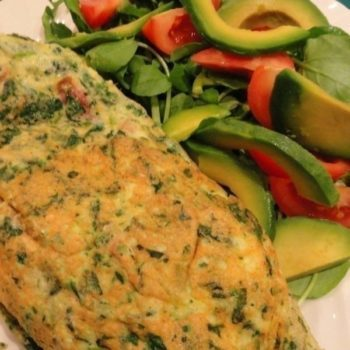 Pregnancy vitamin packed Spinach Omlette
