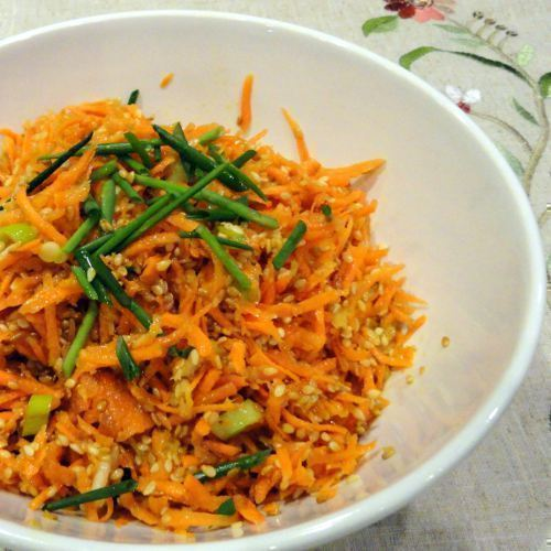 healthy pregnancy carrot and ginger salad