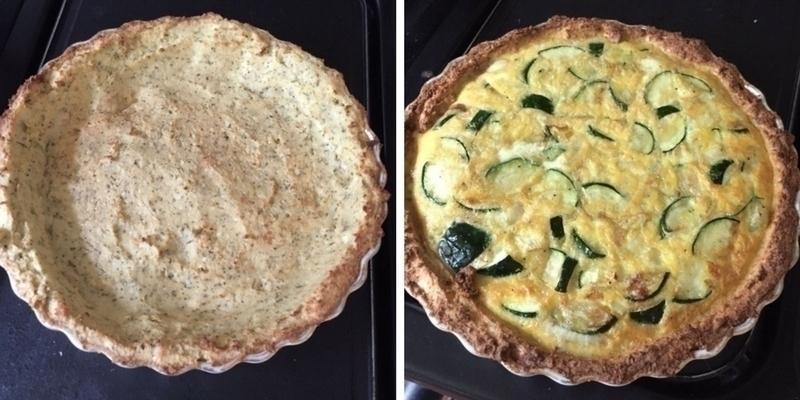 healthy pregnancy diet courgette quiche with cauliflower base