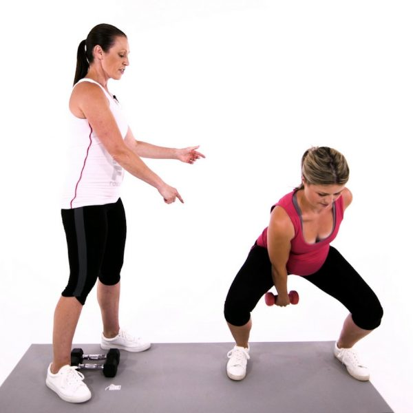 second trimester workout video squat with weights