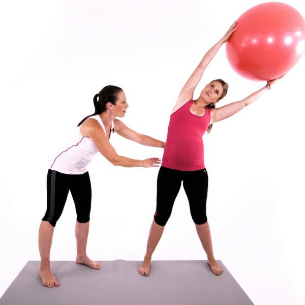 third trimester workout video with fit ball