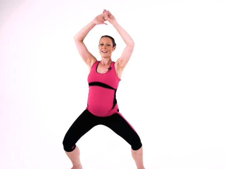 Safe pregnancy exercise warm up video
